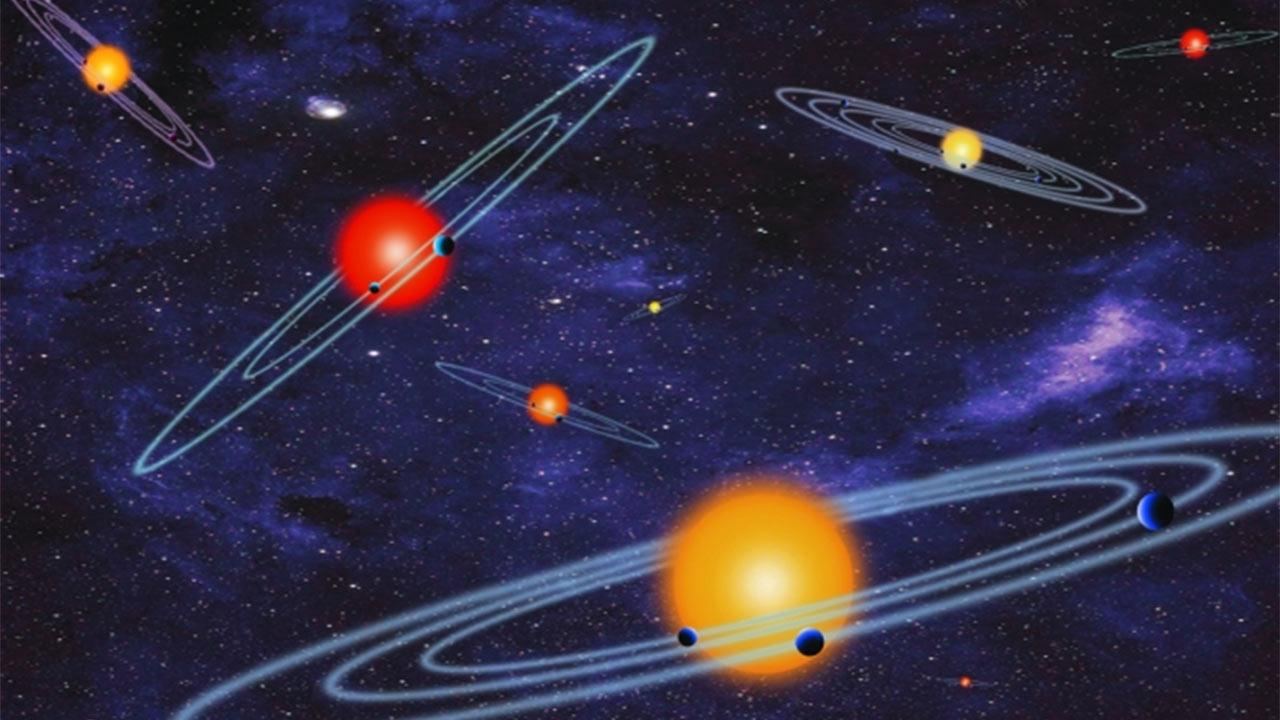 This photo from NASA depicts multiple-transiting planet systems, which are stars with more than one planet.