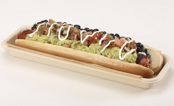 "<div class=""meta image-caption""><div class=""origin-logo origin-image ""><span></span></div><span class=""caption-text"">Also new to the D-backs' Chase Stadium in Phoenix: the Venom Dog. It's a footlong habanero sausage topped with black beans, guacamole, pico de gallo and sour cream and costs $10.  </span></div>"
