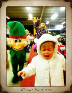 ABC7 viewer Laura Matsumoto posted this photo to the ABC7 Facebook wall of a baby being scared of the &#39;scawy elf.&#39;  Post your own photo, and don&#39;t forget to tag yourself. Your photo may be used on Eyewitness News! <span class=meta>(KABC Photo&#47; ABC7 viewer Laura Matsumoto)</span>