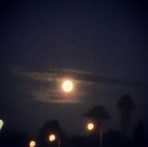 ABC7 viewer Cynthia Abarca sent us this photo of the blue moon.  When You Witness breaking news, or even something extraordinary, send pictures and video to video@myabc7.com, or send them to @abc7 on Twitter or our ABC7 Facebook page. <span class=meta>(ABC7 viewer Cynthia Abarca)</span>
