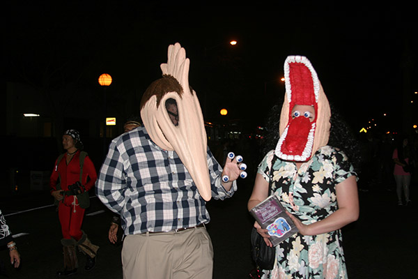 "<div class=""meta ""><span class=""caption-text "">Rita Zupancici and Jeremy Weatherly posed for a photo during the West Hollywood Halloween Costume Carnaval on Thursday, Oct. 31, 2013. (ABC7)</span></div>"