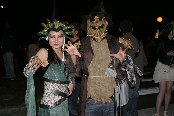 "<div class=""meta ""><span class=""caption-text "">Mia and Lee pose for a photo during the West Hollywood Halloween Costume Carnaval on Thursday, Oct. 31, 2013. (ABC7)</span></div>"