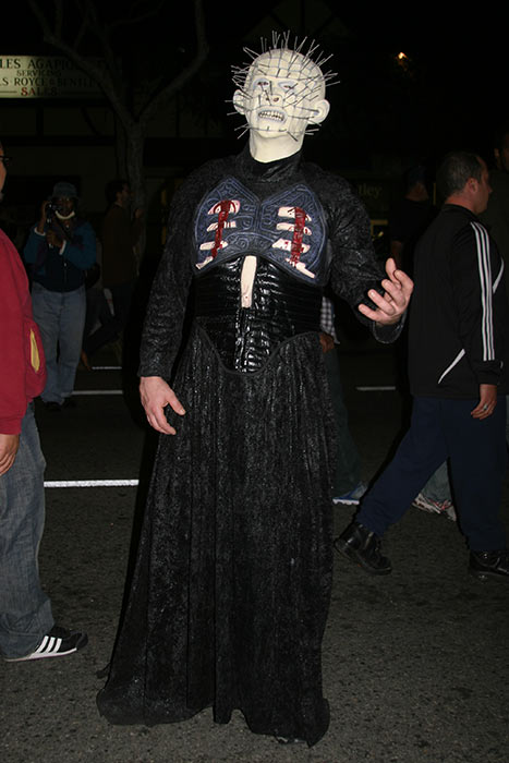 "<div class=""meta ""><span class=""caption-text "">Steven Proctor dressed as 'Hellraiser' during the West Hollywood Halloween Costume Carnaval on Thursday, Oct. 31, 2013. (ABC7)</span></div>"