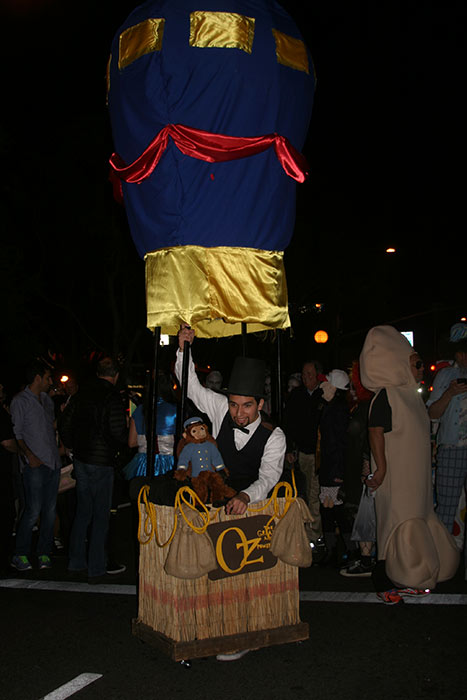 "<div class=""meta ""><span class=""caption-text "">Brian Silvestre dressed up as 'Oz the Great and Powerful' during the West Hollywood Halloween Costume Carnaval on Thursday, Oct. 31, 2013. (ABC7)</span></div>"