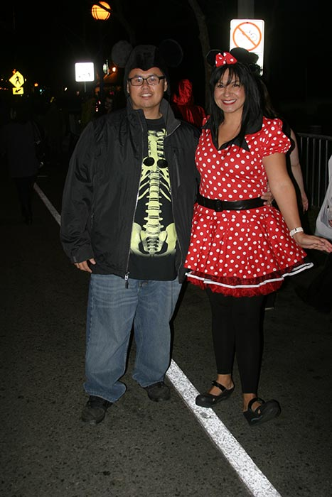 "<div class=""meta ""><span class=""caption-text "">Long Vo and Veronica Young pose for a photo during the West Hollywood Halloween Costume Carnaval on Thursday, Oct. 31, 2013. (ABC7)</span></div>"
