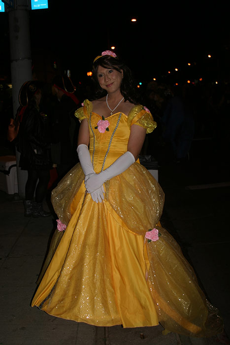 "<div class=""meta ""><span class=""caption-text "">Mike Nelminda dressed up as 'Belle' from 'Beauty and the Beast' during the West Hollywood Halloween Costume Carnaval on Thursday, Oct. 31, 2013. (ABC7)</span></div>"