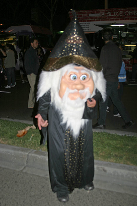 "<div class=""meta ""><span class=""caption-text "">Dennis dressed up as a wizard during the West Hollywood Halloween Costume Carnaval on Thursday, Oct. 31, 2013. (ABC7)</span></div>"
