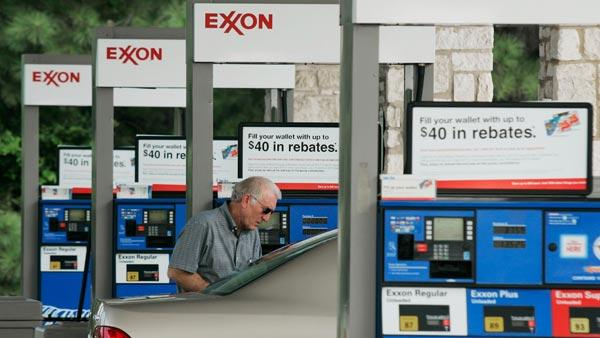 An Exxon station is shown in Keller, Texas, in this July 25, 2007 file photo.