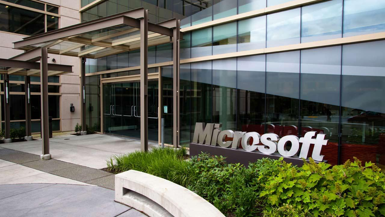 An entrance to Building 99 on the Microsoft Redmond Campus in Redmond, Wash. is seen in this Dec. 31, 2010 photo.