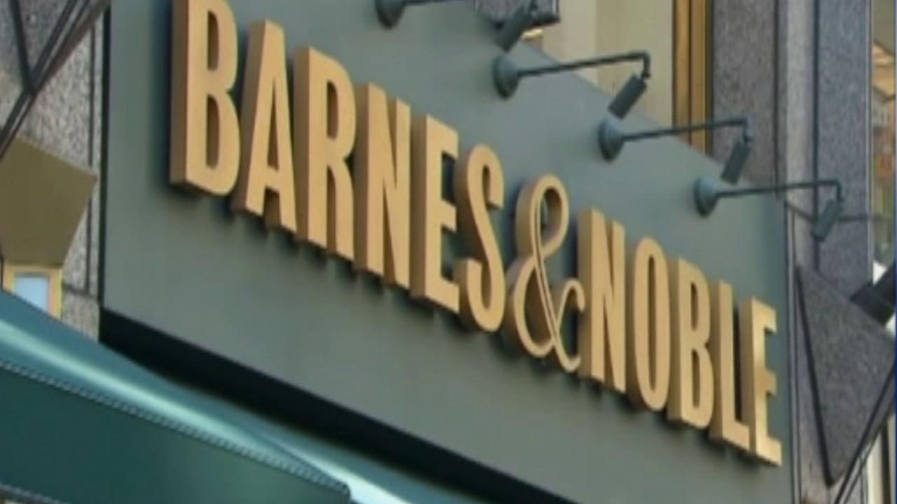 A Barnes & Noble sign is seen in this undated file photo.