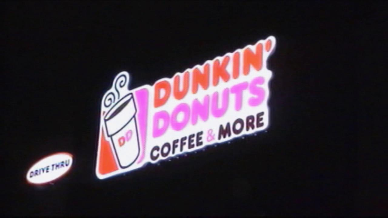 A Dunkin Donuts sign is seen in this undated file photo.