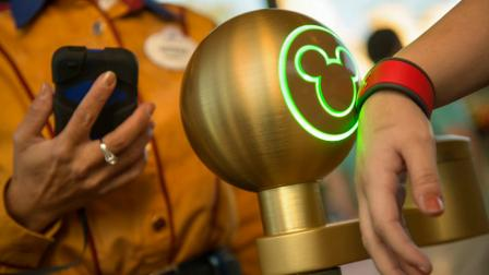 A Disney MagicBand is shown in this file photo.
