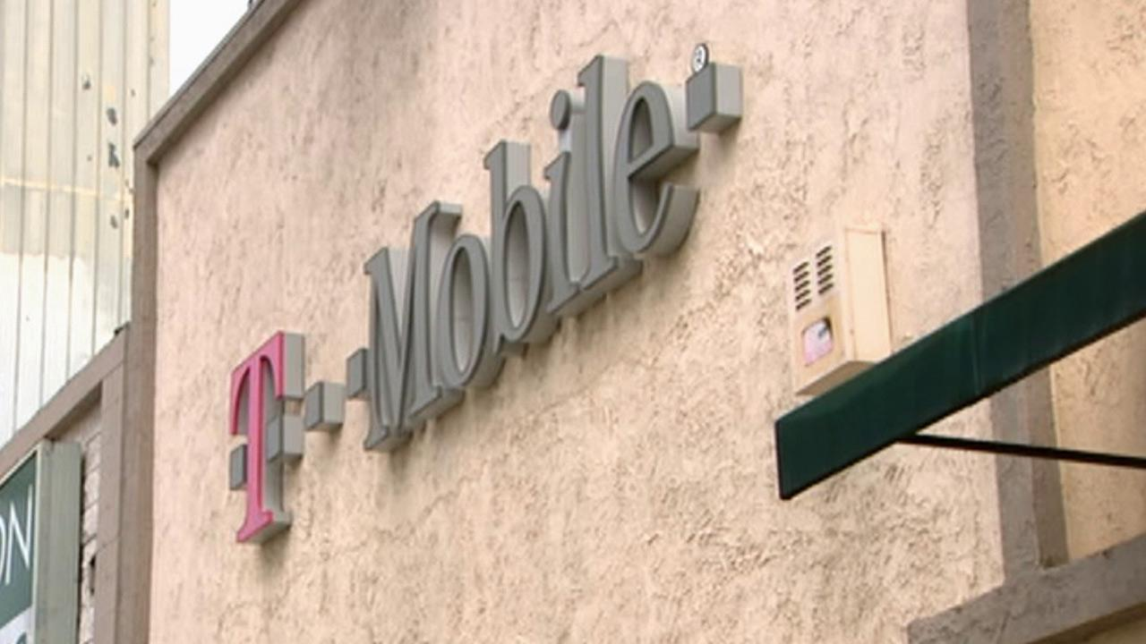 A sign for T-Mobile is seen in this undated file photo.
