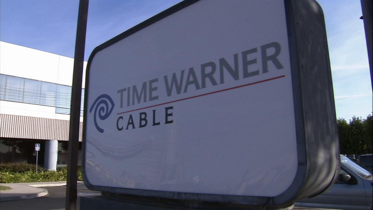 A sign for Time Warner Cable is seen in this undated file photo.