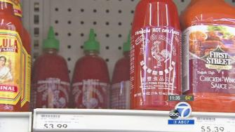 Sriracha hot sauce is shown in a store shelf in this undated file photo.