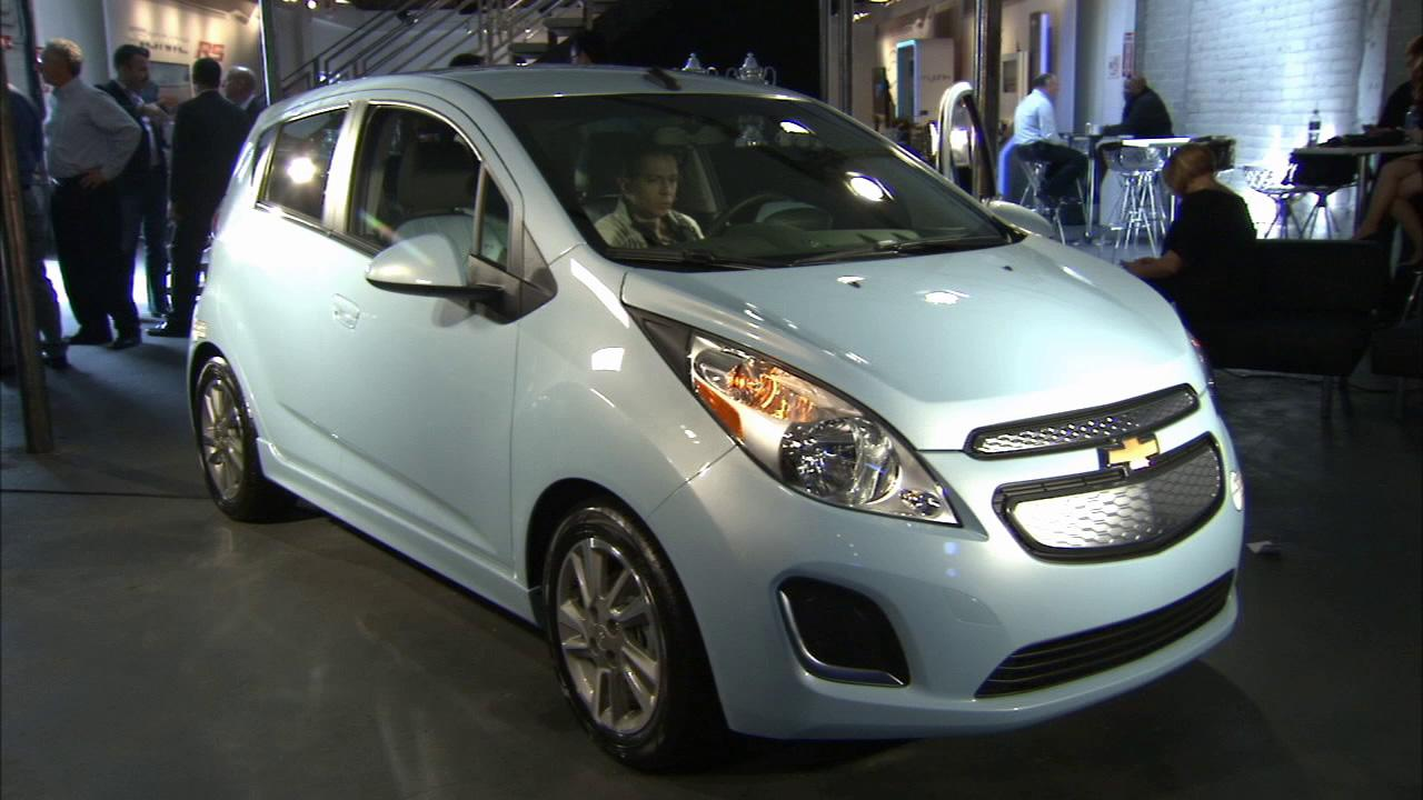 The Chevrolet Spark EV is seen at the 2012 Los Angeles Auto Show on Wednesday, Nov. 28, 2012.