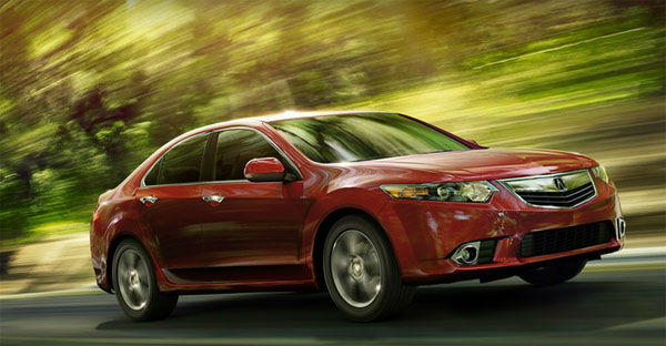 The 2012 Acura TSX won in the Upscale Small Car...