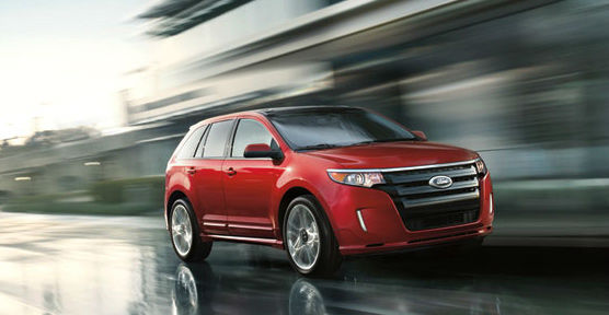 The 2012 Ford Edge won in the Midsize SUV with...