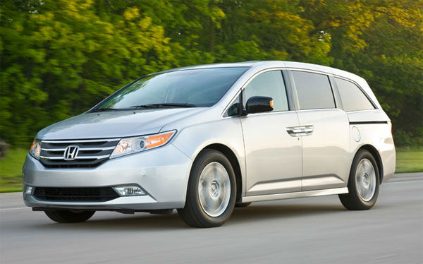 The 2012 Honda Odyssey won in the Minivan category for the 2012 U.S. News Best Cars for Families Awards. <span class=meta>(automobiles.honda.com)</span>