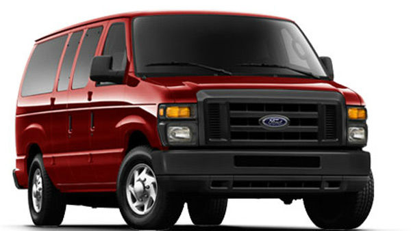 The Ford E-350 Wagon tied as the worst vehicle...