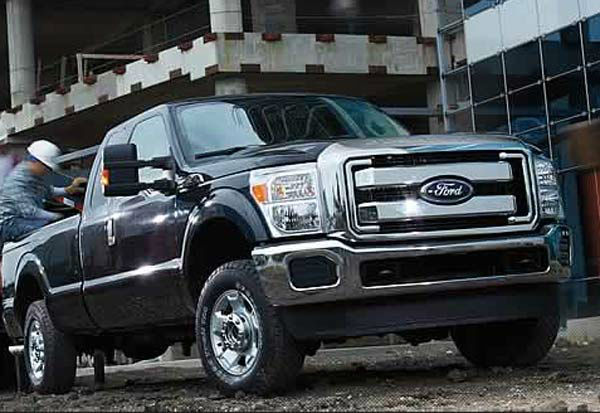 The Ford F-250 was tied as the 7th worst vehicle for the environment. The American Council for an Energy-Efficient Economy gave the pick-up 20 out of 100 points. By comparison the ACEEE&#39;s most energy efficient vehicle, the Mitsubishi i-MIEV, received 58 out of 100 points. &#39;Motoramic&#39; says the work-targeted F-250 pays a price for weight and power, getting only 16&#47;11 mpg highway&#47;city. <span class=meta>(Ford website)</span>