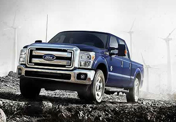 The Ford F-350 was tied as the 5th worst vehicle for the environment. The American Council for an Energy-Efficient Economy gave the pick-up 19 out of 100 points. By comparison the ACEEE&#39;s most energy efficient vehicle, the Mitsubishi i-MIEV, received 58 out of 100 points. &#39;Motoramic&#39; says the work-targeted F-250 pays a price for weight and power, getting only 16&#47;11 mpg highway&#47;city. <span class=meta>(Ford website)</span>