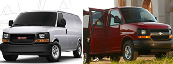 The Chevrolet G3500 Express Cargo and GMC G3500 Savana Cargo tied as the worst vehicle for the environment. The American Council for an Energy-Efficient Economy gave the cargos 17 out of 100 points. By comparison the ACEEE&#39;s most energy efficient vehicle, the Mitsubishi i-MIEV, received 58 out of 100 points. &#39;Motoramic&#39; says big sellers with global package shipping companies, the 6-liter V-8 engines deliver 10 mpg in the city. <span class=meta>(Chevrolet&#47;GMC websites)</span>