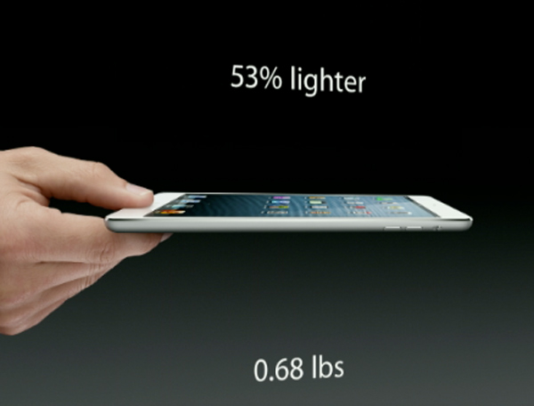 The iPad Mini is unveiled at the Apple event on...