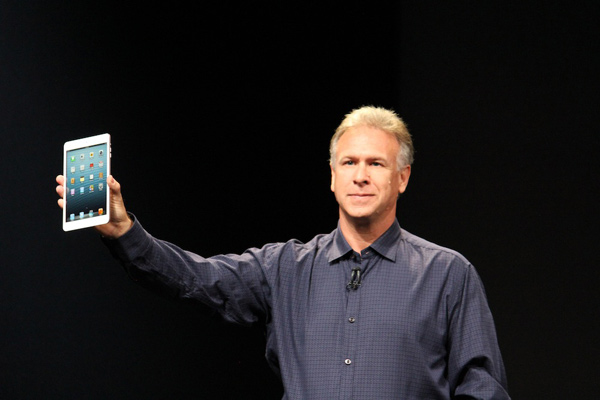 The iPad Mini is unveiled at the Apple event on Tuesday, Oct. 23, 2012.