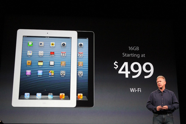 A fourth generation iPad is unveiled at the Apple event on Tuesday, Oct. 23, 2012. <span class=meta>(ABC News)</span>