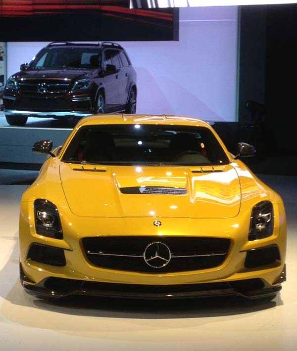 A Mercedes-Benz on display at the 2012 Los Angeles Auto Show held at the Los Angeles Convention Center downtown on Wednesday, Nov. 28, 2012. <span class=meta>(KABC)</span>