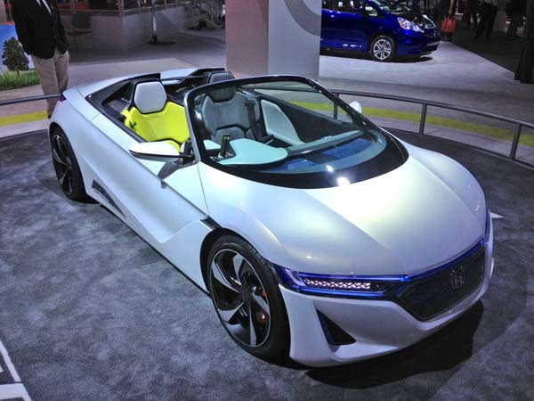 A Honda model on display at the 2012 Los Angeles Auto Show held at the Los Angeles Convention Center downtown on Wednesday, Nov. 28, 2012.