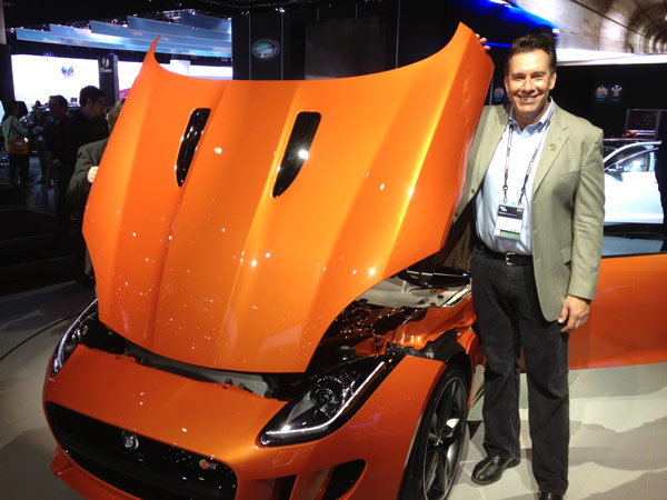 Eyewitness News automotive specialist Dave Kunz at the 2012 Los Angeles Auto Show held at the Los Angeles Convention Center downtown on Wednesday, Nov. 28, 2012.