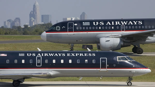 US Airways ranked No. 6 in an airline quality...