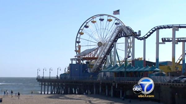 Santa Monica Pier's Pacific Wheel is popular ride that provides extensive views of mountain tops and beach coastlines from 130 feet above the sand - all for an inexpensive ticket.