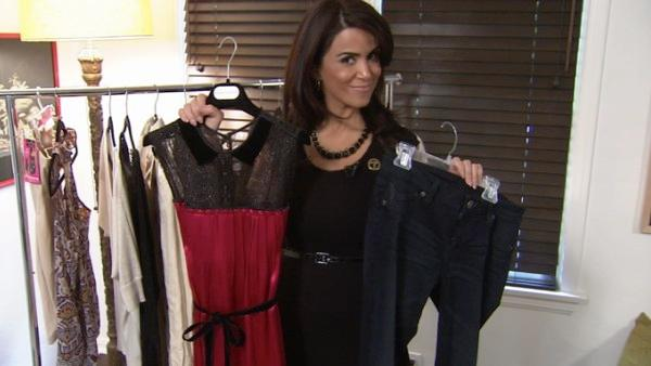 Skip the gym and still look slim? ABC7's Alysha Del Valle finds out that the right combination of clothes and accessories can knock 10 pounds off a woman's appearance.