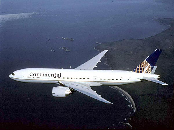 Continental Airlines ranked No. 8 in an airline...