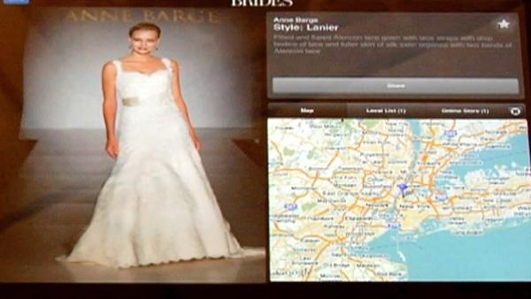 'Once you've found the dress that you're looking for, it geo-targets to where you live and finds all the bridal salons in your area that carry that dress,' said Anja Winikka of TheKnot.com.