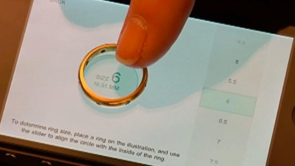 Still looking for a ring? Check out the 'Tiffany Ring Finder' app, which gives you ideas on shapes, stones and settings. Your significant other can also take a ring you own, drop it onto the phone, and determine your ring size.