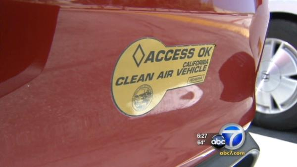 Time running out for carpool lane stickers