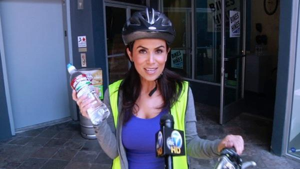 ABC7's Alysha Del Valle joined a group of bicyclists on a tour of Los Angeles. She went on the