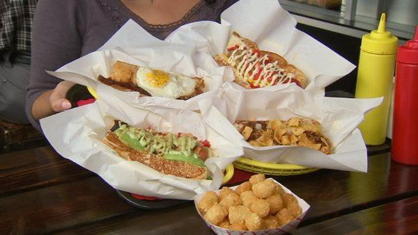 When we think summer, it's all about burgers and hot dogs. ABC7's Alysha Del Valle found some fun, new, gourmet creations that you can get in the Los Angeles area.