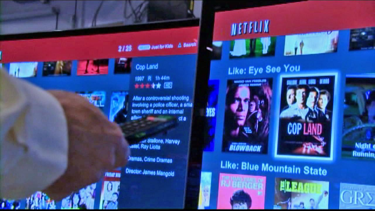 A man is seen flipping through Netflix in this undated file photo.