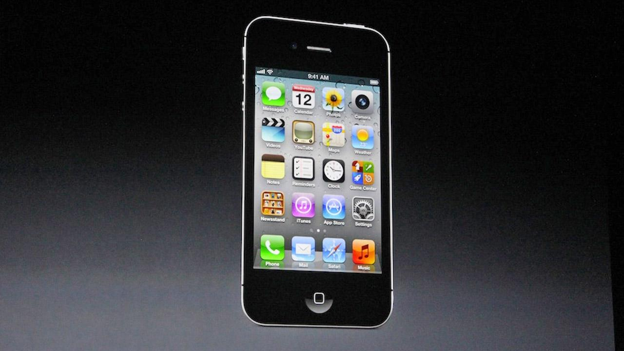 The iPhone 5 is shown in this photo taken at an Apple event in San Francisco, Wednesday Sept. 12, 2012. <span class=meta>(Joanna Stern)</span>