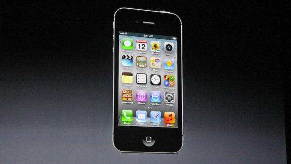 The iPhone 5 is shown in this photo taken at an Apple event in San Francisco, Wednesday Sept. 12, 2012.
