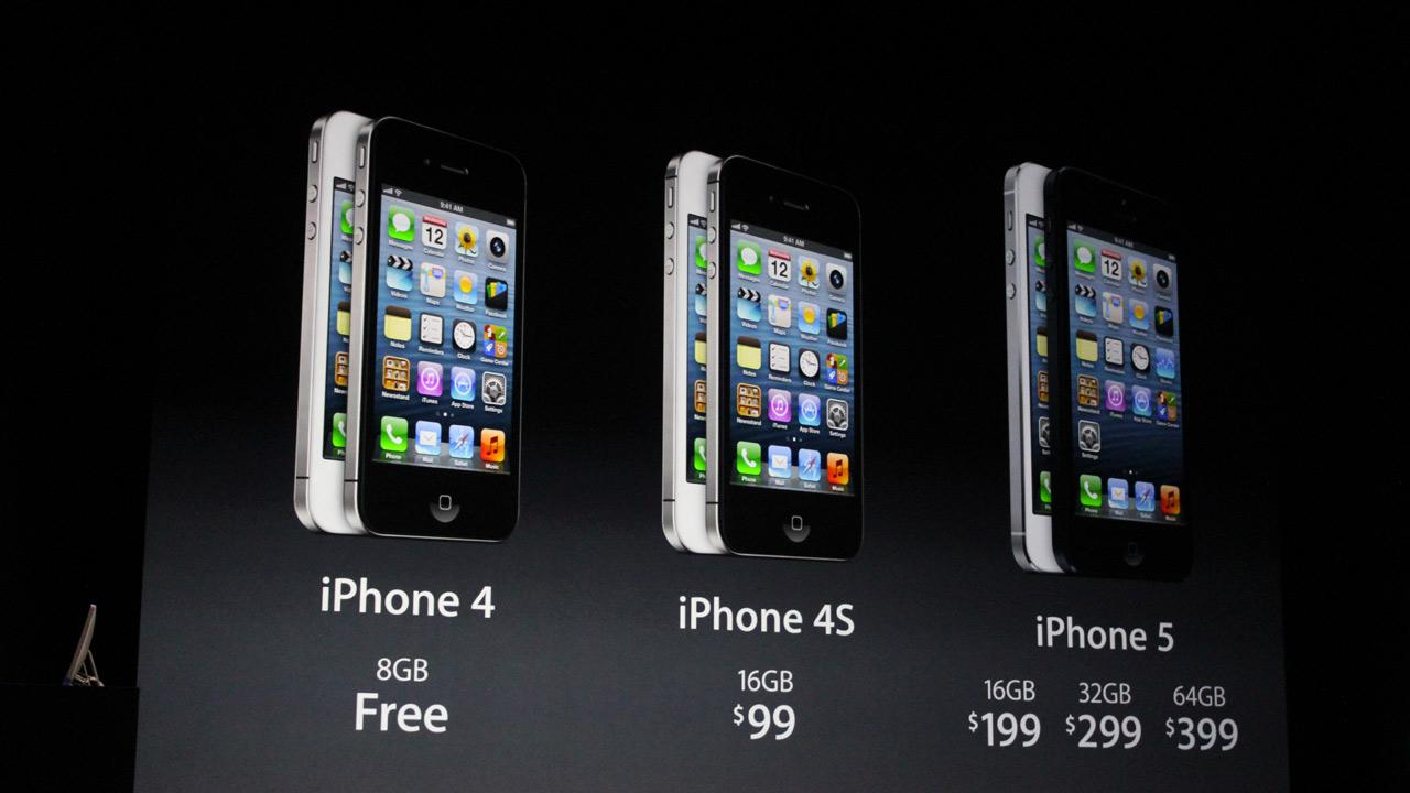The iPhone 5 will cost $199 for 16GB, $299 for 32GB and $399 for 64GB witha two-year contract. The new phone will be available for pre-order Sept. 14 and will ship on Sept. 21. <span class=meta>(Joanna Stern)</span>