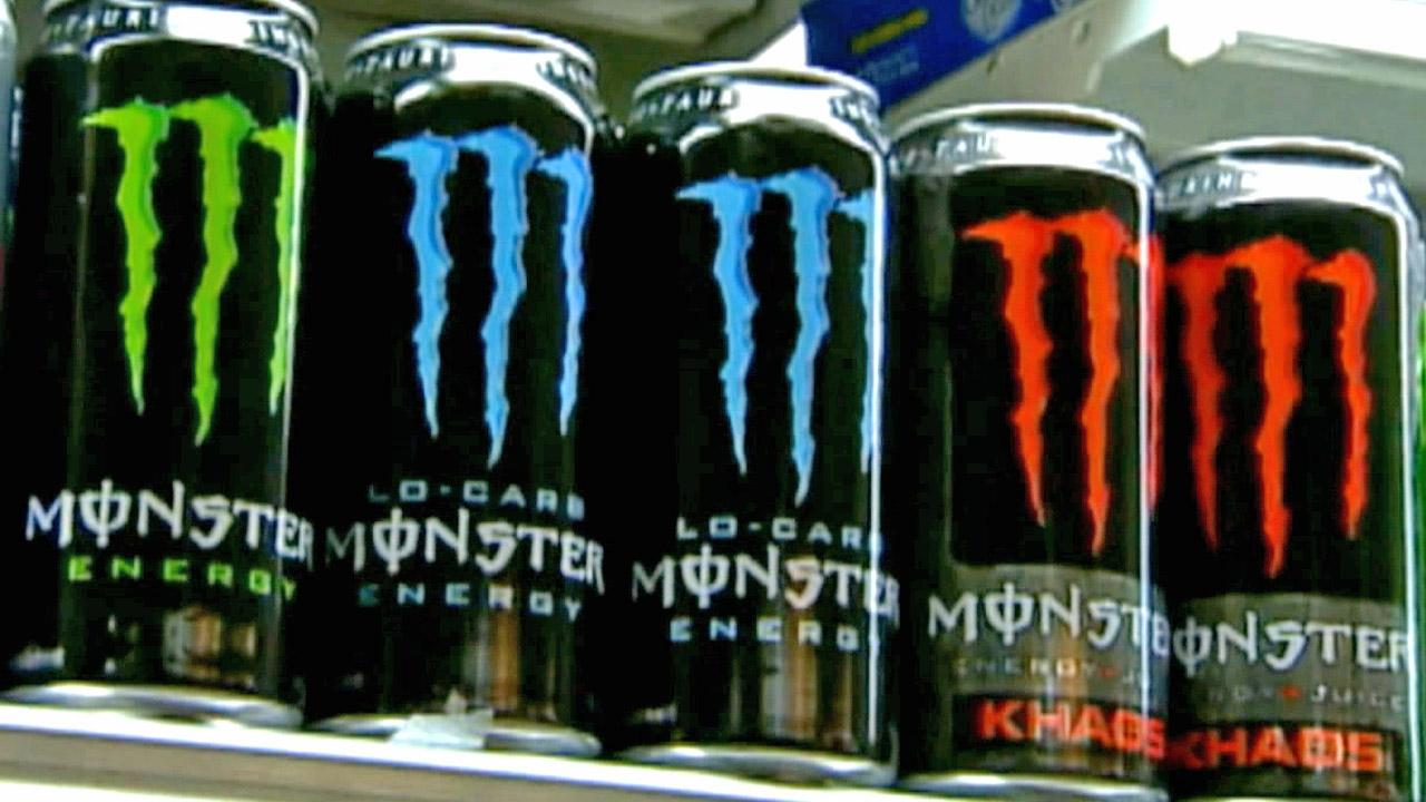 File photo of Monster Energy drinks.