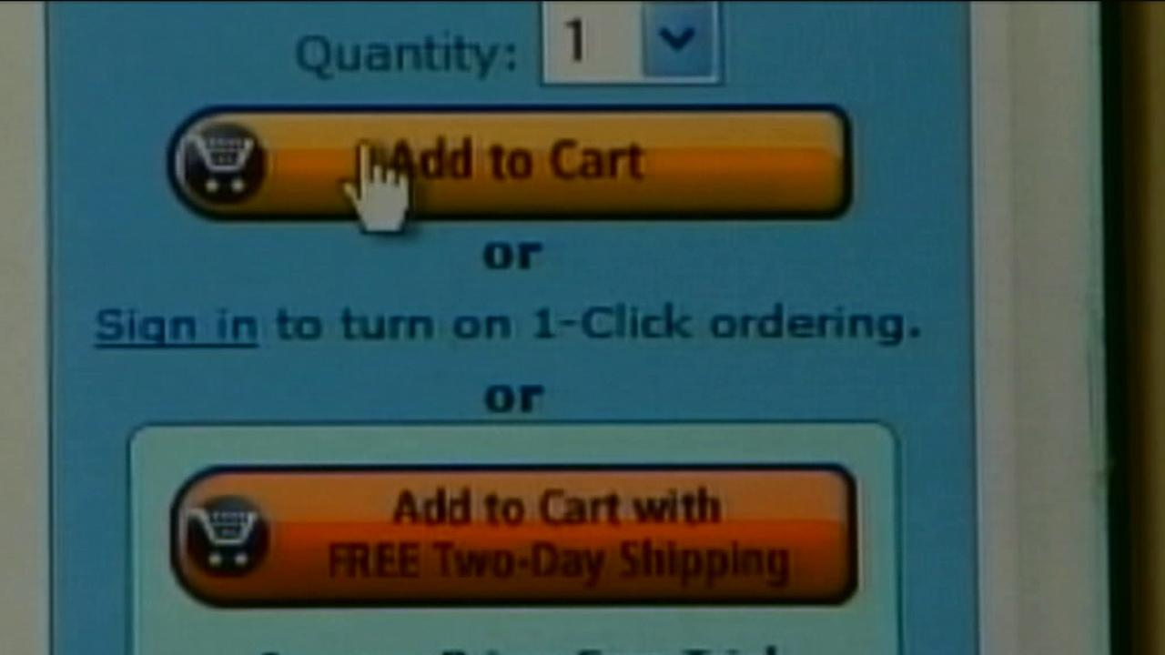 A screen shot of Amazons website shows the add to cart button in this undated photo.