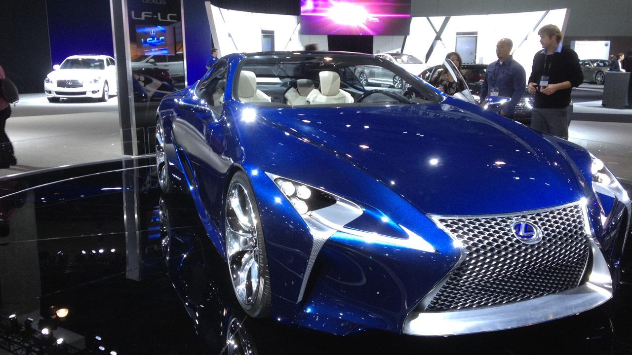 A Lexus model at the 2012 Los Angeles Auto Show on Wednesday, Nov. 28, 2012.