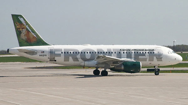 Frontier Airlines ranked No. 9 in an airline...